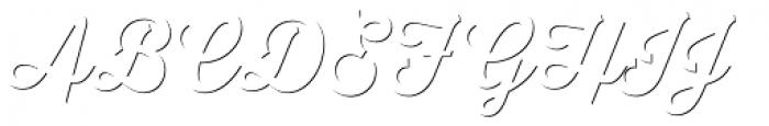 Thirsty Script Shadow Medium Font UPPERCASE