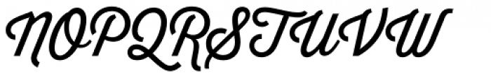 Thirsty Script Font UPPERCASE
