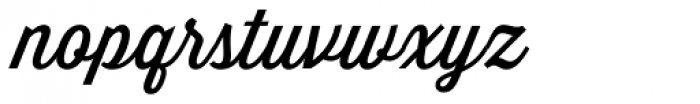 Thirsty Script Font LOWERCASE