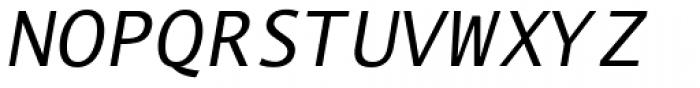 Thordis Sans Mono EF Oblique Font UPPERCASE