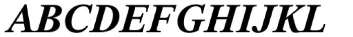 Thorndale Std Bold Italic Font UPPERCASE