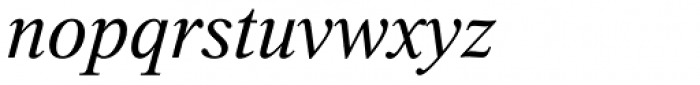 Thorndale Std Italic Font LOWERCASE