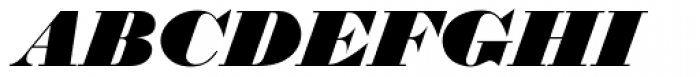 Thorowgood Italic Font UPPERCASE