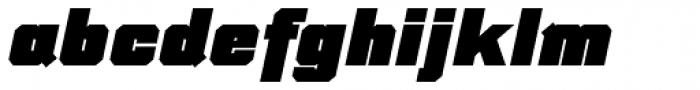 Thud Black Italic Font LOWERCASE