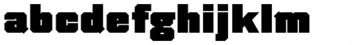 Thud Black Font LOWERCASE
