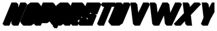 Thunderbold Extrude Font UPPERCASE