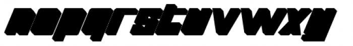 Thunderbold Extrude Font LOWERCASE