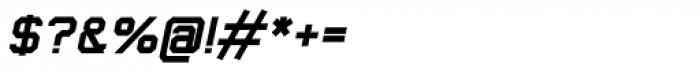 Thunderbolt 75 Bold Italic Font OTHER CHARS