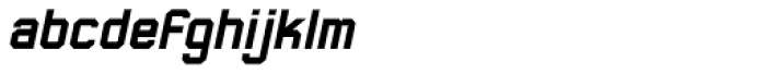 Thunderbolt 75 Bold Italic Font LOWERCASE