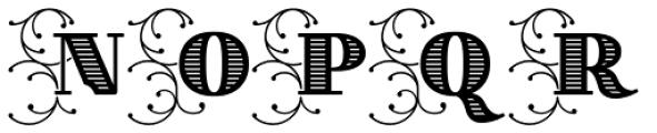 Thurbrooke Initials Font UPPERCASE