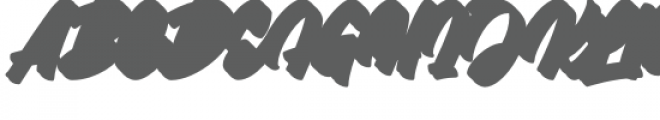 Throttles Shadow Font UPPERCASE