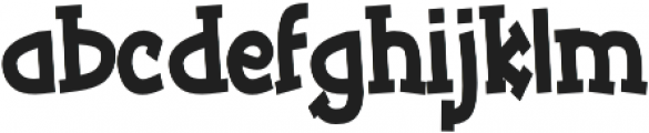 Tickled Condensed Bold otf (700) Font LOWERCASE