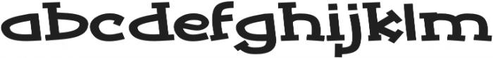 Tickled Expanded Regular otf (400) Font LOWERCASE