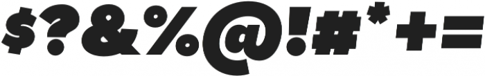 Tide Sans 900 Dude Italic otf (900) Font OTHER CHARS