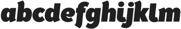 Tide Sans Cond 800 Kahuna Italic otf (800) Font LOWERCASE