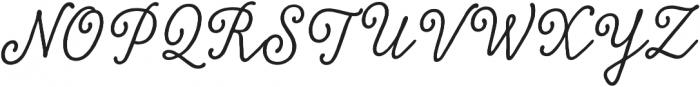 Tierra Script Salt otf (400) Font UPPERCASE