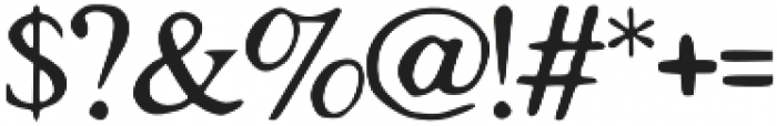 Tigerlily otf (400) Font OTHER CHARS