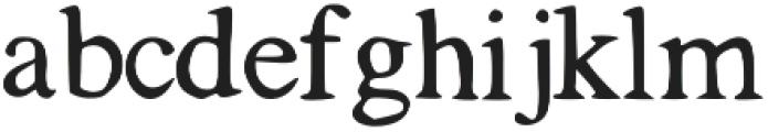 Tigerlily otf (400) Font LOWERCASE
