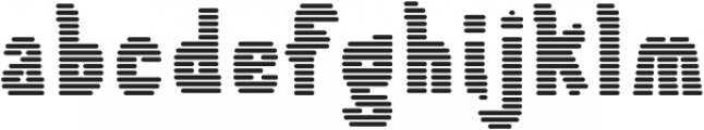 Tilda Heavy Lines otf (800) Font LOWERCASE