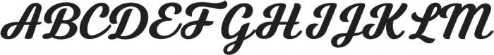 Tilda Script Bold otf (700) Font UPPERCASE