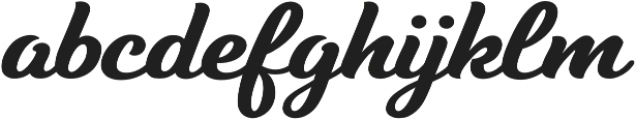 Tilda Script Bold otf (700) Font LOWERCASE