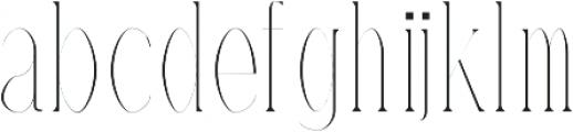 Timm Thin otf (100) Font LOWERCASE