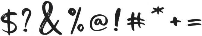 Tiny Love script otf (400) Font OTHER CHARS