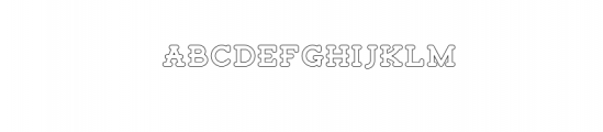 Tigreal Outline.otf Font LOWERCASE