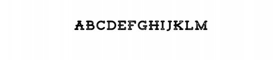 Tigreal Stamp.otf Font LOWERCASE