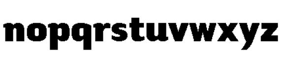 Tilden Sans Black Font LOWERCASE