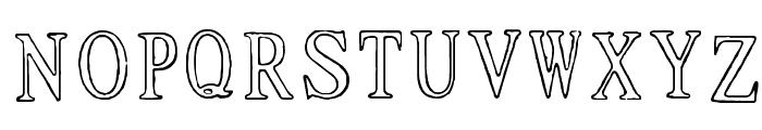 Ticket Capitals Outline Medium Font UPPERCASE