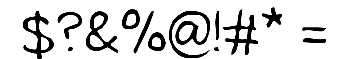 Tidy Hand Font OTHER CHARS