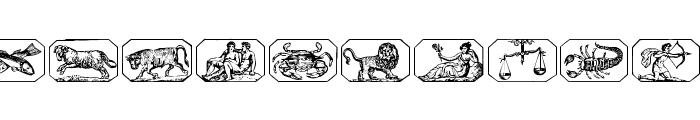 Tierkreis 2 Font UPPERCASE