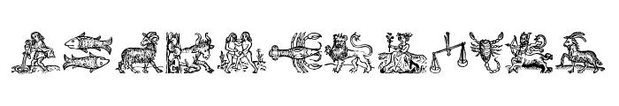 Tierkreis 3 Font UPPERCASE