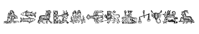 Tierkreis 3 Font LOWERCASE