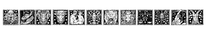 Tierkreis 4 Font UPPERCASE