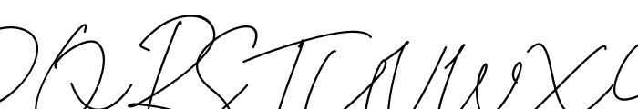 Tiffany Script Font UPPERCASE