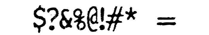 TightWriter-Regular Font OTHER CHARS