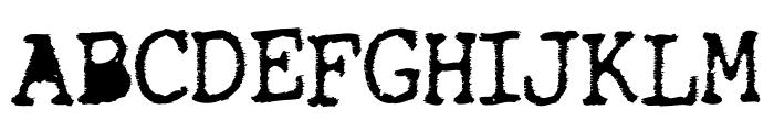 TightWriter-Regular Font UPPERCASE