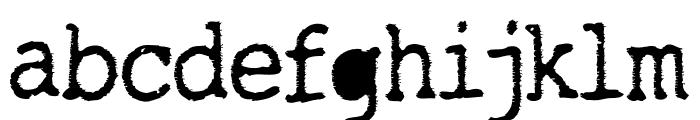 TightWriter-Regular Font LOWERCASE