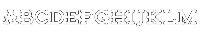 Tigreal Free Outline Font UPPERCASE