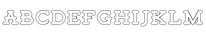 Tigreal Free Outline Font LOWERCASE
