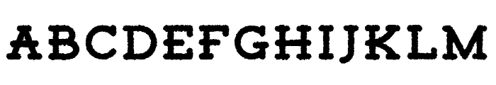 Tigreal Free Rough Font LOWERCASE