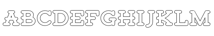 TigrealFree-Outline Font UPPERCASE