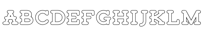 TigrealFree-Outline Font LOWERCASE