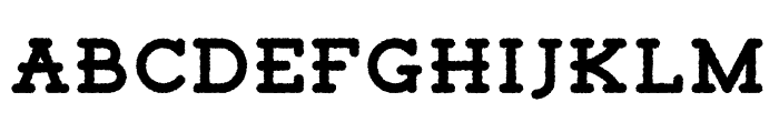 TigrealFree-Rough Font UPPERCASE
