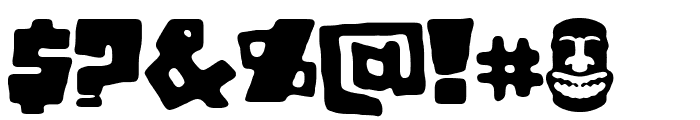 Tiki Tako Font OTHER CHARS