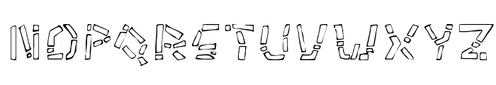 Tikitype Regular Font UPPERCASE