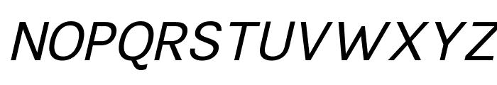 TikusPutih-italic Font UPPERCASE