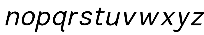 TikusPutih-italic Font LOWERCASE